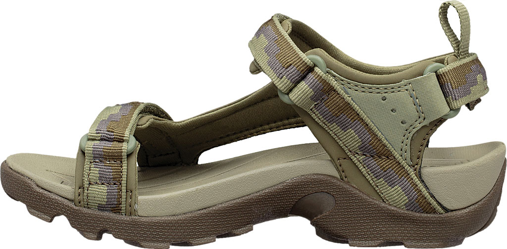 Children's Teva Tanza Strappy Sandal - Little Kid, Steps Dark Olive Textile/Synthetic, large, image 3