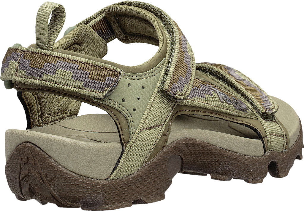Children's Teva Tanza Strappy Sandal - Little Kid, Steps Dark Olive Textile/Synthetic, large, image 4