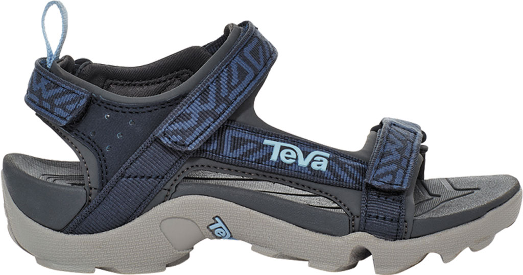 Children's Teva Tanza Strappy Sandal - Little Kid, Griffith Total Eclipse Textile/Synthetic, large, image 2