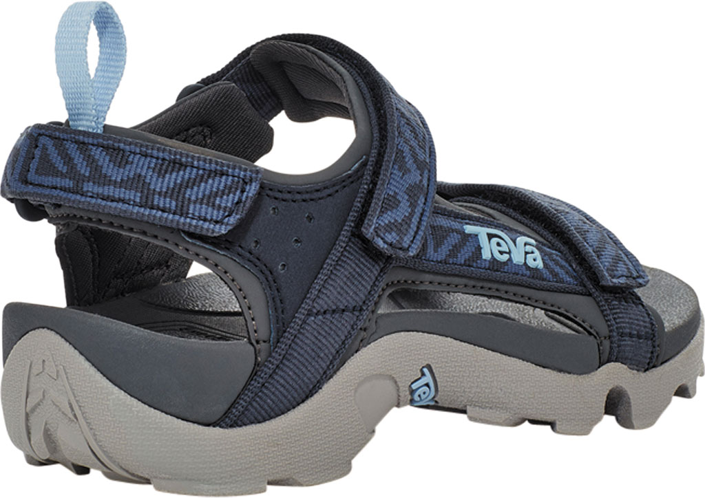 Children's Teva Tanza Strappy Sandal - Little Kid, Griffith Total Eclipse Textile/Synthetic, large, image 4