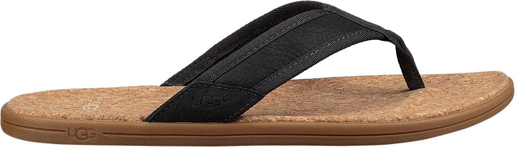 Men's UGG Seaside Flip Flop, Navy Leather, large, image 2