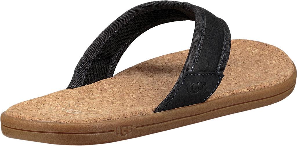 Men's UGG Seaside Flip Flop, Navy Leather, large, image 4