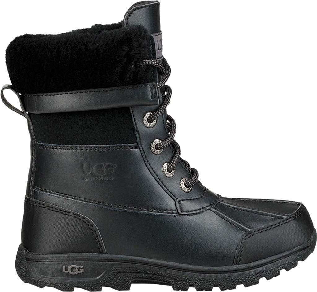 Children's UGG Butte II CWR Winter Boot, Black Leather/Suede, large, image 2