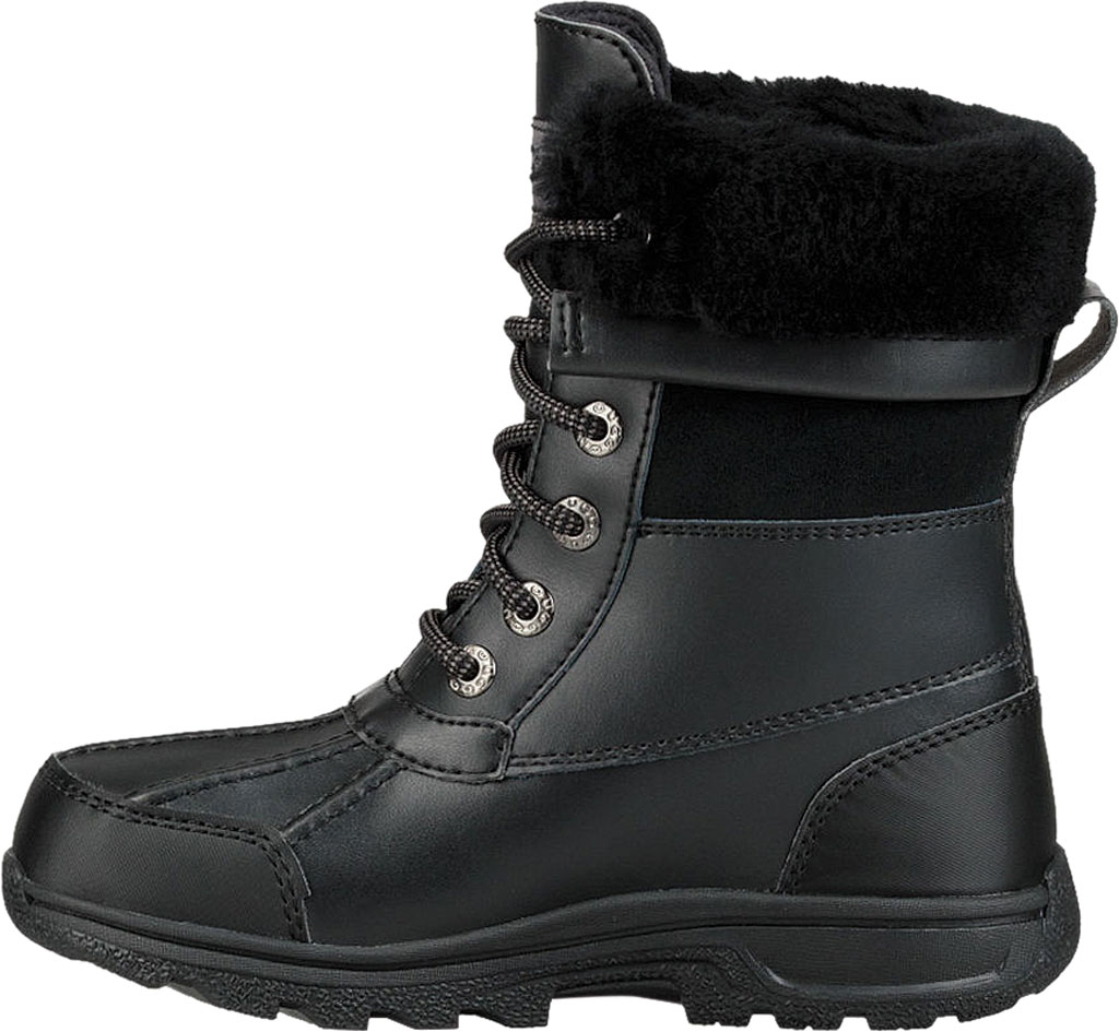 Children's UGG Butte II CWR Winter Boot, Black Leather/Suede, large, image 3