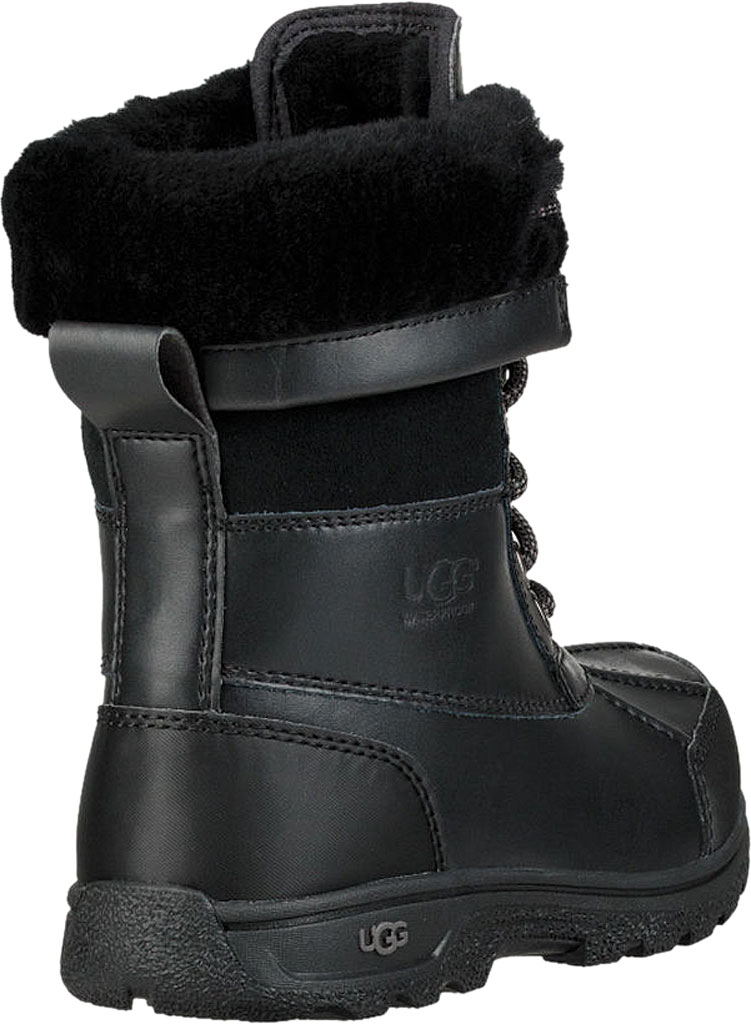 Children's UGG Butte II CWR Winter Boot, Black Leather/Suede, large, image 4