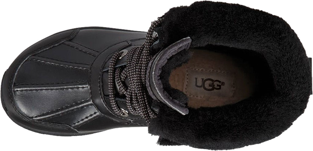 Children's UGG Butte II CWR Winter Boot, Black Leather/Suede, large, image 5