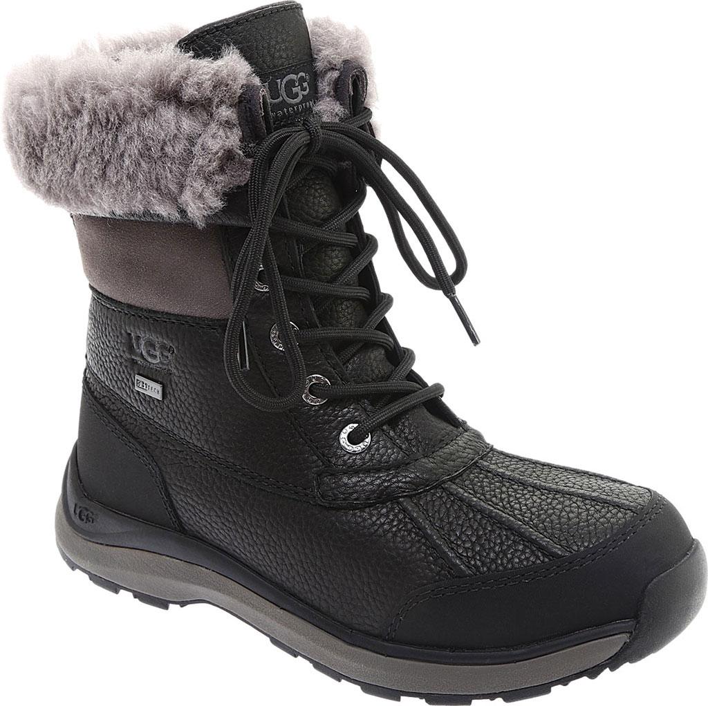 Women's UGG Adirondack III Winter Boot, Black Leather, large, image 1