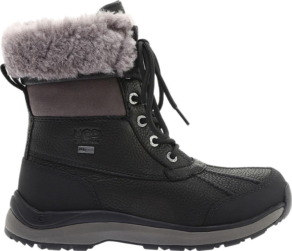 Women's UGG Adirondack III Winter Boot, Black Leather, large, image 2