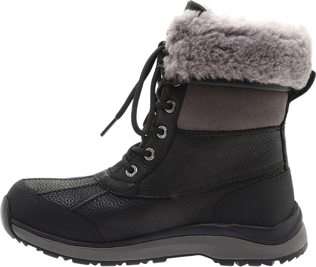 Women's UGG Adirondack III Winter Boot, Black Leather, large, image 3