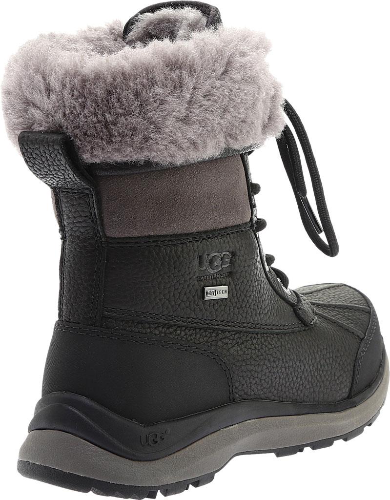 Women's UGG Adirondack III Winter Boot, Black Leather, large, image 4