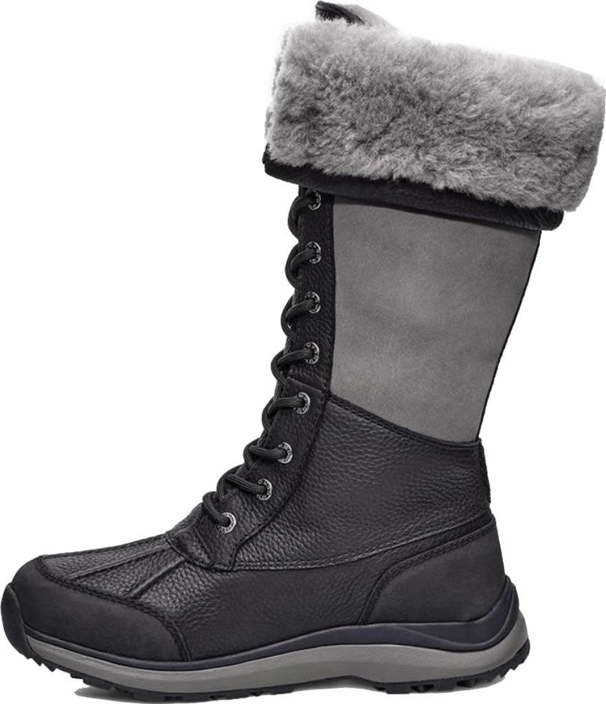 Women's UGG Adirondack Tall III Winter Boot, Black Leather, large, image 3