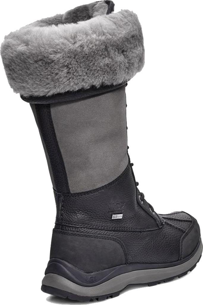 Women's UGG Adirondack Tall III Winter Boot, Black Leather, large, image 4