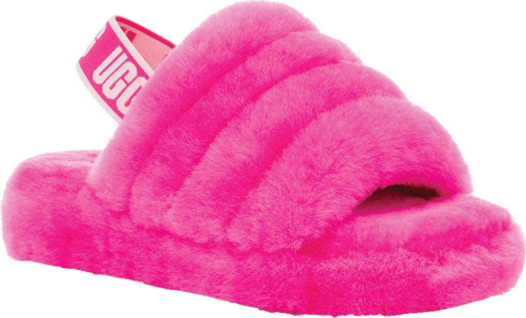 Children's UGG Fluff Yeah Slingback, Rock Rose Sheepskin, large, image 1