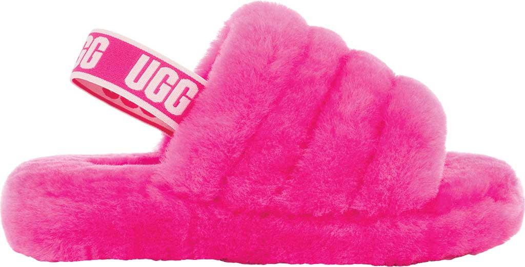 Children's UGG Fluff Yeah Slingback, Rock Rose Sheepskin, large, image 2