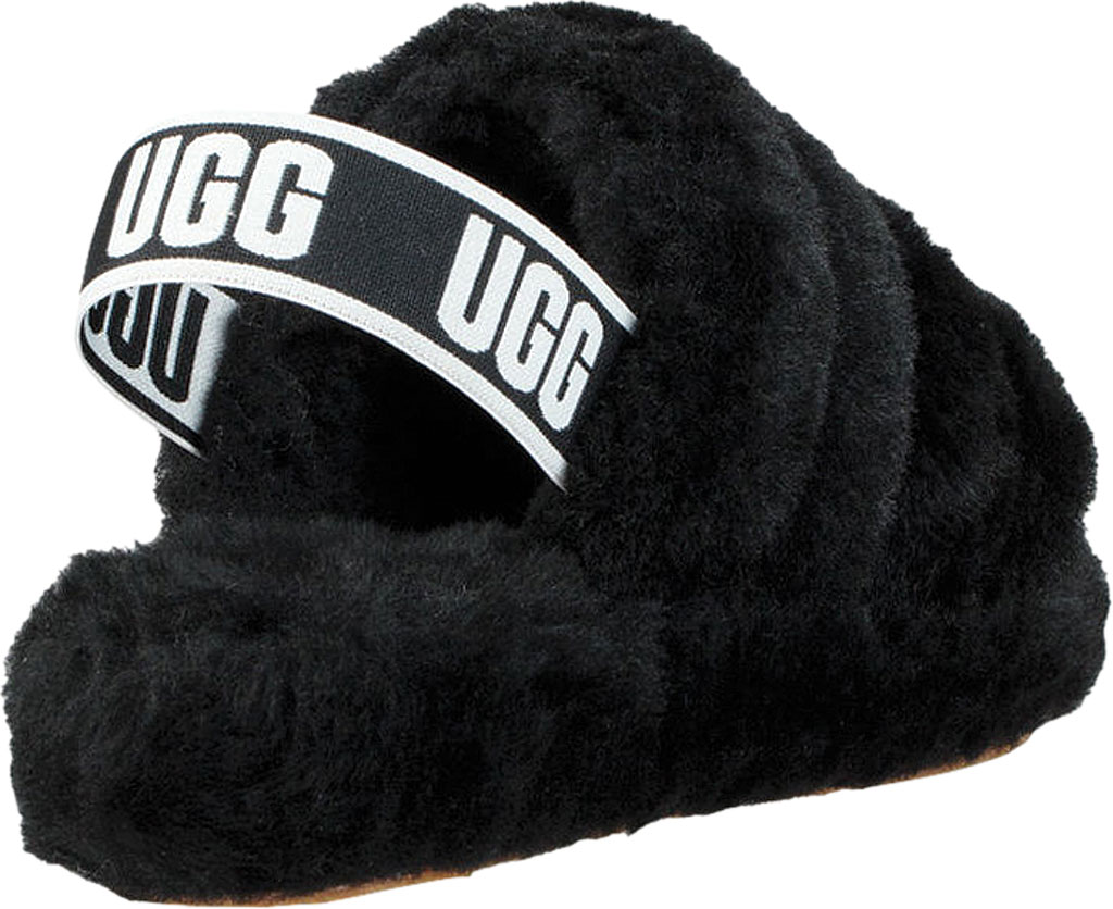 Women's UGG Fluff Slingback, Red Currant Sheepskin, large, image 4