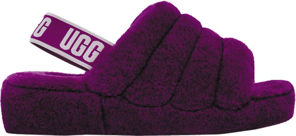 Women's UGG Fluff Slingback, Berrylicious Sheepskin, large, image 2