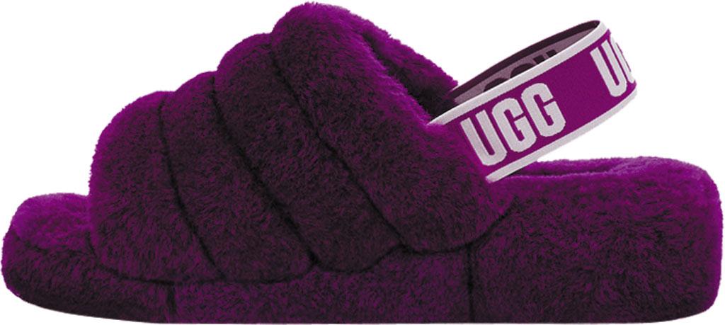 Women's UGG Fluff Slingback, Berrylicious Sheepskin, large, image 3