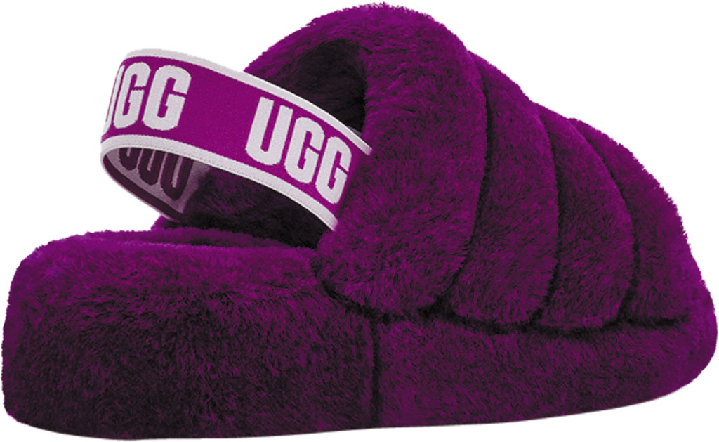 Women's UGG Fluff Slingback, Berrylicious Sheepskin, large, image 4