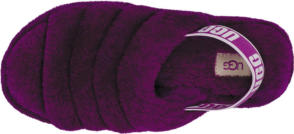 Women's UGG Fluff Slingback, Berrylicious Sheepskin, large, image 5