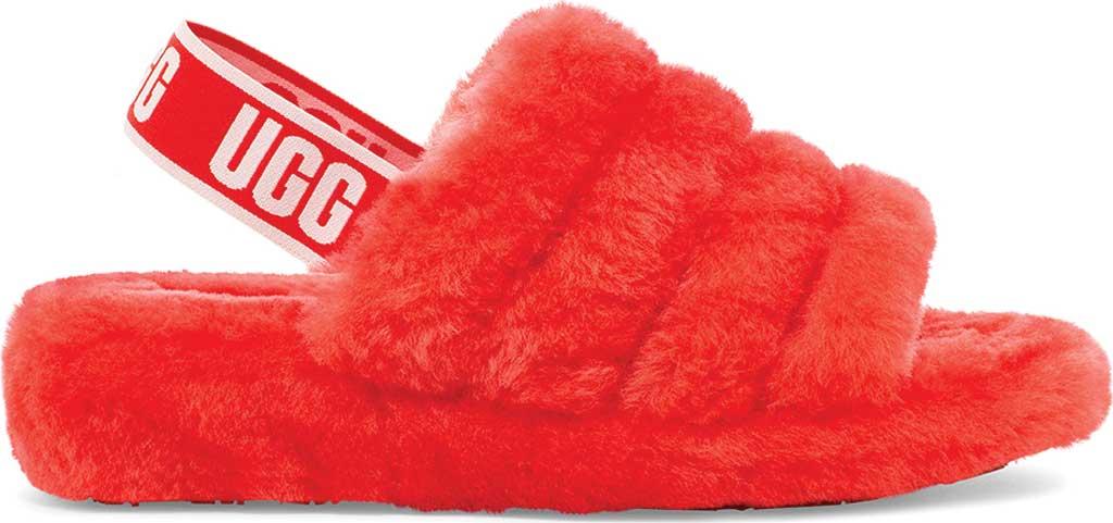 Women's UGG Fluff Slingback, Red Currant Sheepskin, large, image 1