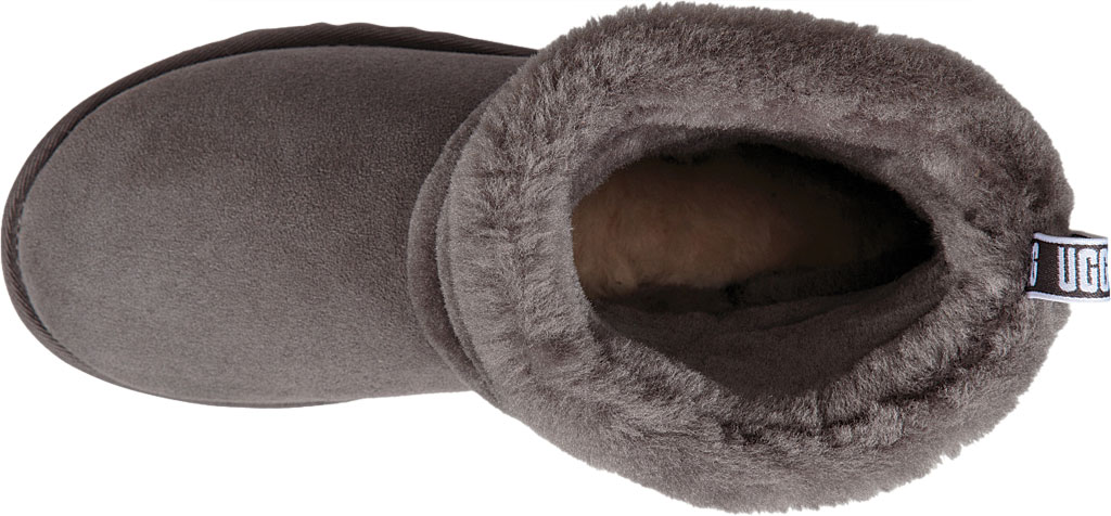 Women's UGG Fluff Mini Quilted Bootie, Charcoal Twinface, large, image 5