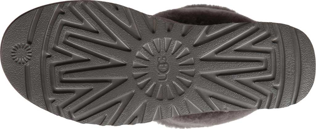 Women's UGG Fluff Mini Quilted Bootie, Charcoal Twinface, large, image 6