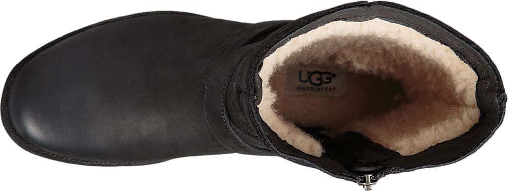 Women's UGG Lorna Mid Calf Boot, Black Leather/Suede, large, image 5