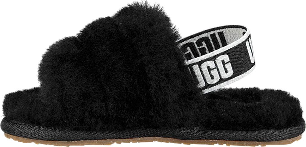 Infant UGG Fluff Yeah Slingback, Black Sheepskin, large, image 3