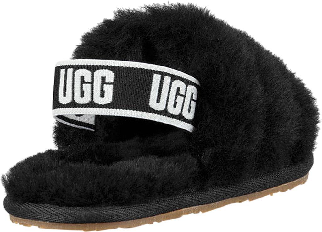Infant UGG Fluff Yeah Slingback, Black Sheepskin, large, image 4