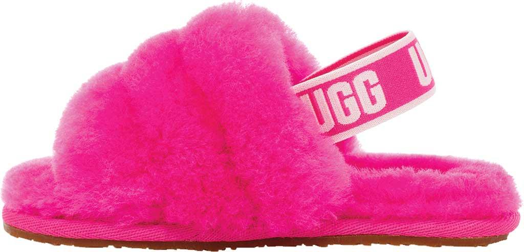 Infant UGG Fluff Yeah Slingback, Rock Rose Sheepskin, large, image 3