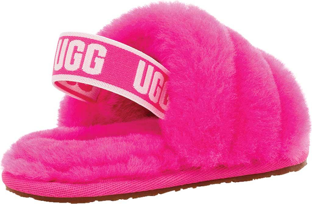 Infant UGG Fluff Yeah Slingback, Rock Rose Sheepskin, large, image 4