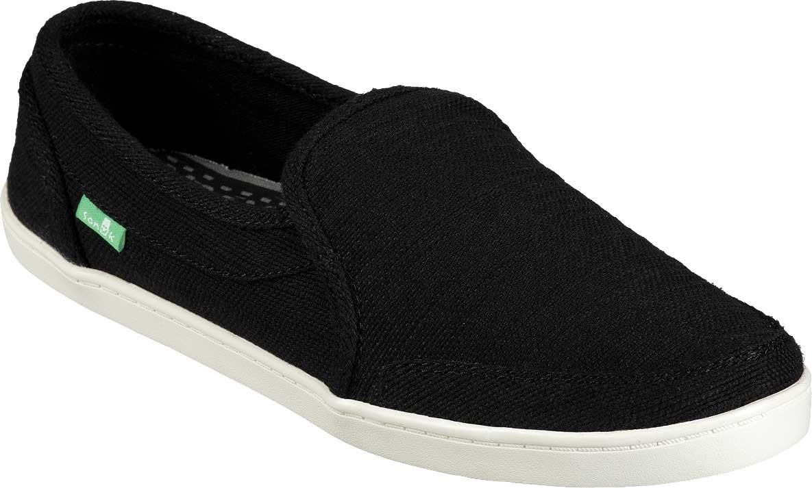 Women's Sanuk Pair O Dice Hemp Sneaker, Black Hemp, large, image 1