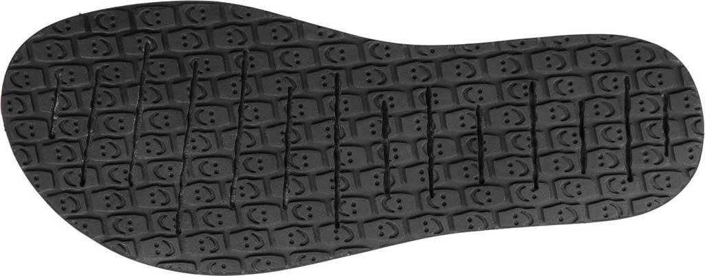 Women's Sanuk Yoga 3 Strap Slingback, Black Canvas, large, image 6