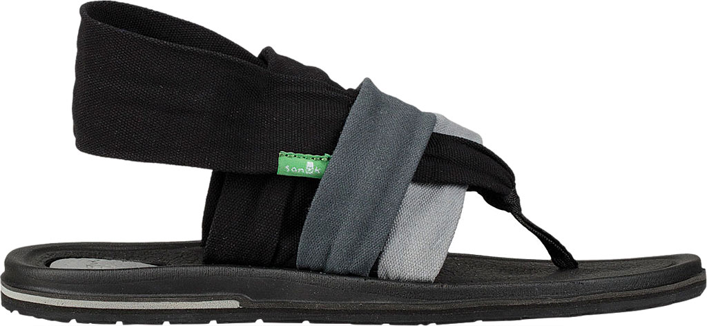 Women's Sanuk Yoga 3 Strap Slingback, Gradient Grey/Black Canvas, large, image 2