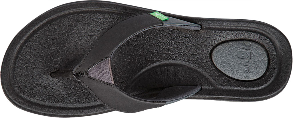 Women's Sanuk Yoga Mat 3 Flip Flop, Black Synthetic, large, image 5