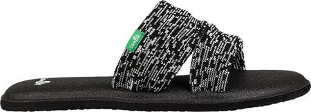 Women's Sanuk Yoga Mat Capri Slide, Black/Multi Knit, large, image 2