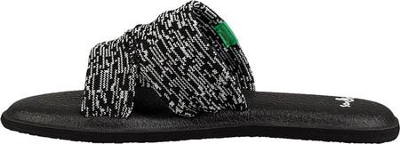 Women's Sanuk Yoga Mat Capri Slide, Black/Multi Knit, large, image 3