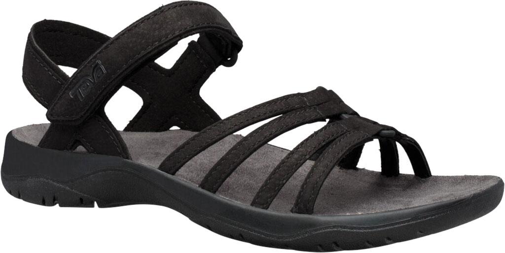 Women's Teva Elzada Leather Sandal, Black Leather, large, image 1