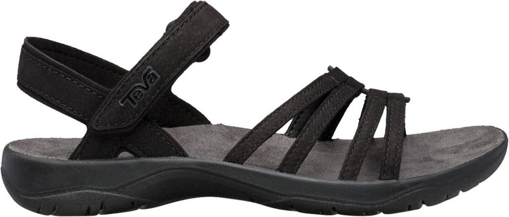 Women's Teva Elzada Leather Sandal, Black Leather, large, image 2