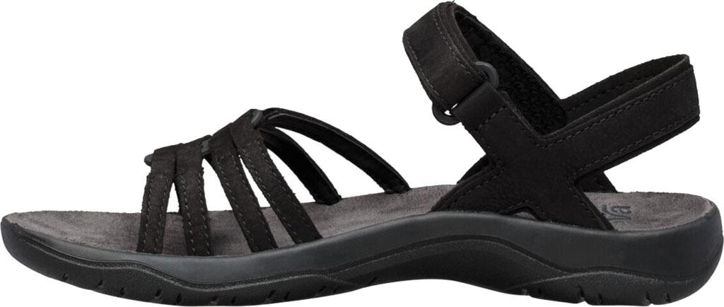 Women's Teva Elzada Leather Sandal, Black Leather, large, image 3