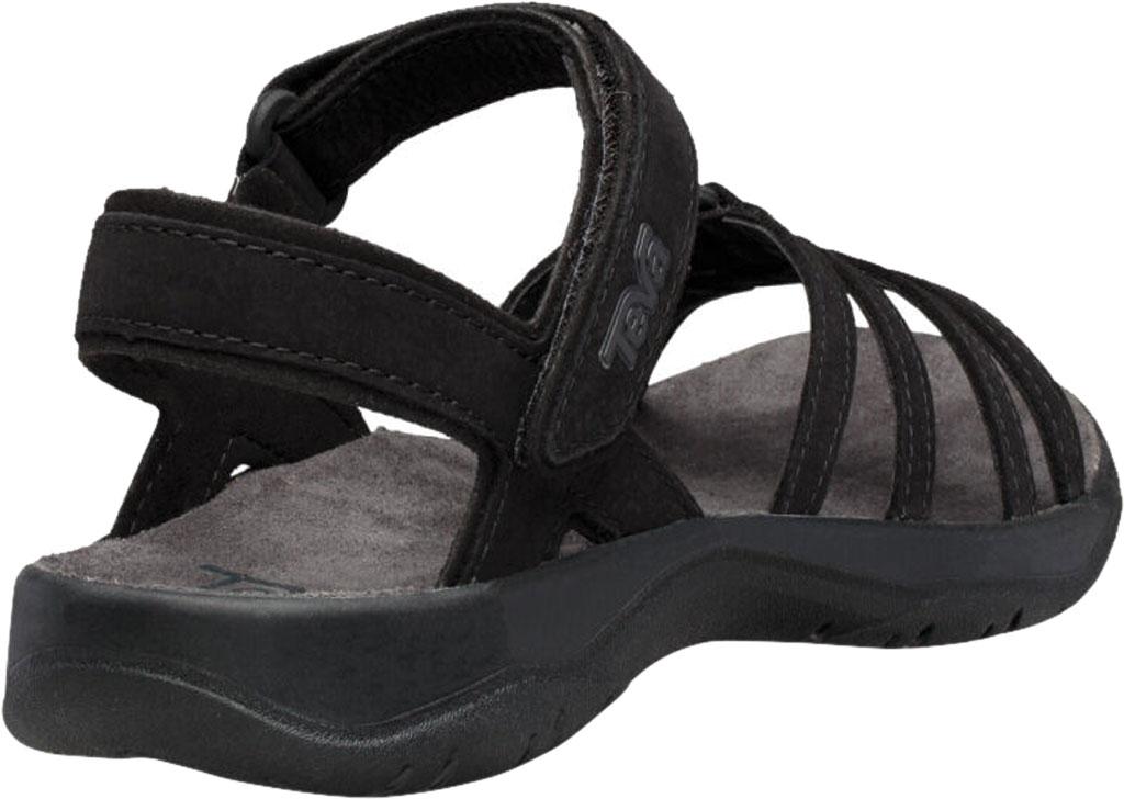 Women's Teva Elzada Leather Sandal, Black Leather, large, image 4