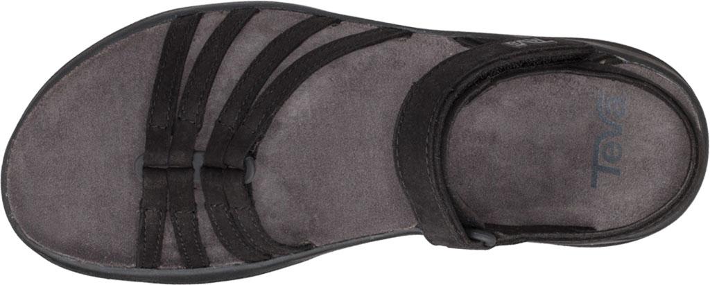 Women's Teva Elzada Leather Sandal, Black Leather, large, image 5
