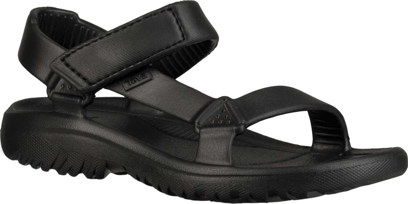 Children's Teva Hurricane Drift Sandal, Black Synthetic, large, image 1