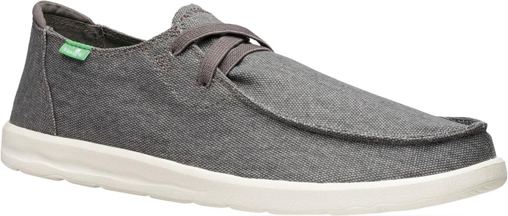Men's Sanuk Shaka Moc Toe Sneaker, Grey Canvas, large, image 1