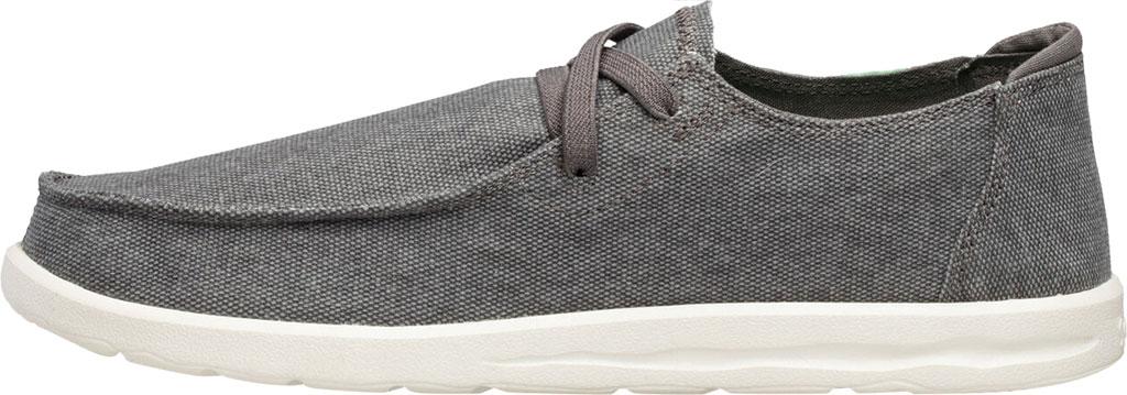 Men's Sanuk Shaka Moc Toe Sneaker, Grey Canvas, large, image 3