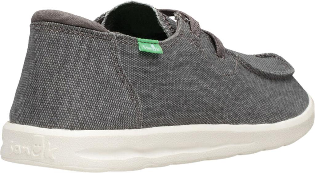 Men's Sanuk Shaka Moc Toe Sneaker, Grey Canvas, large, image 4