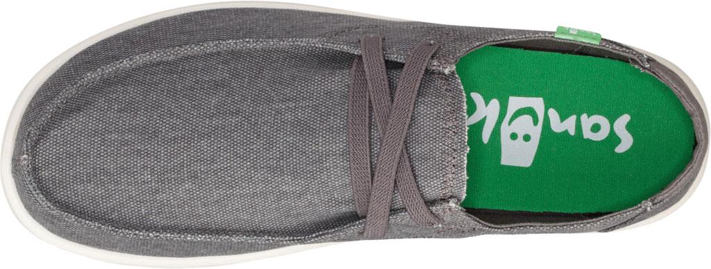 Men's Sanuk Shaka Moc Toe Sneaker, Grey Canvas, large, image 5