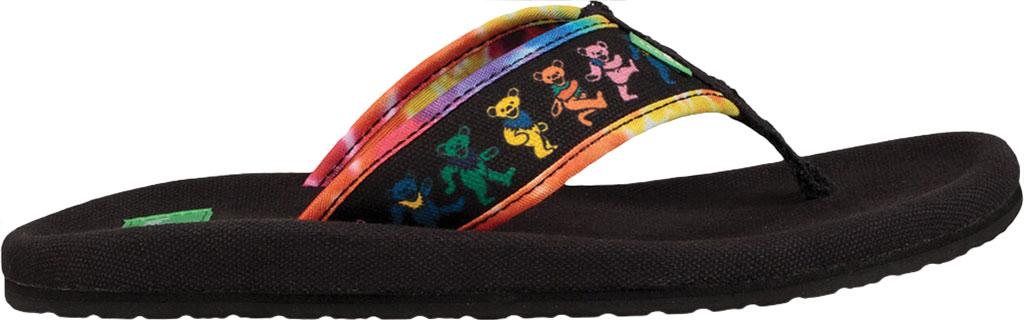 Women's Sanuk Furreal Classic Grateful Dead Thong Sandal, Dancing Bears Canvas, large, image 2