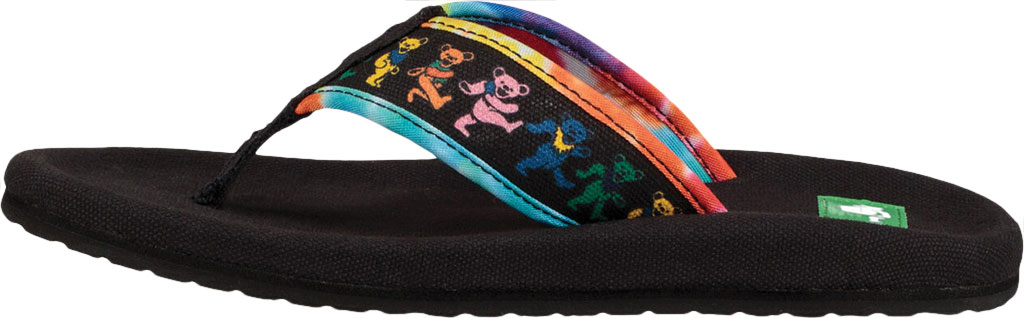 Women's Sanuk Furreal Classic Grateful Dead Thong Sandal, Dancing Bears Canvas, large, image 3
