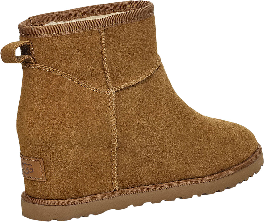 Women's UGG Classic Femme Mini Wedge Ankle Boot, Chestnut Soft Suede, large, image 4